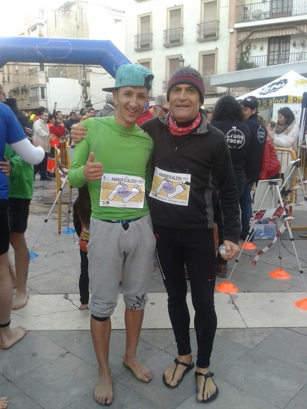 Con Karim El Hayani en 600 descalzos