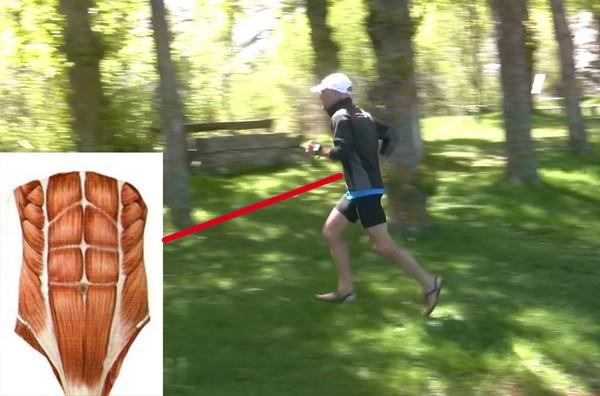 Cómo correr descalzo o minimalista en la naturaleza - Abdominales dorsales