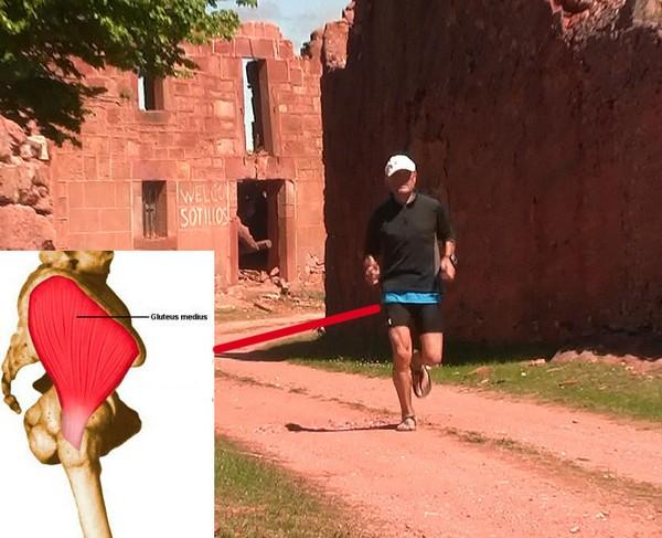Cómo correr descalzo o minimalista en la naturaleza - Glúteo medio