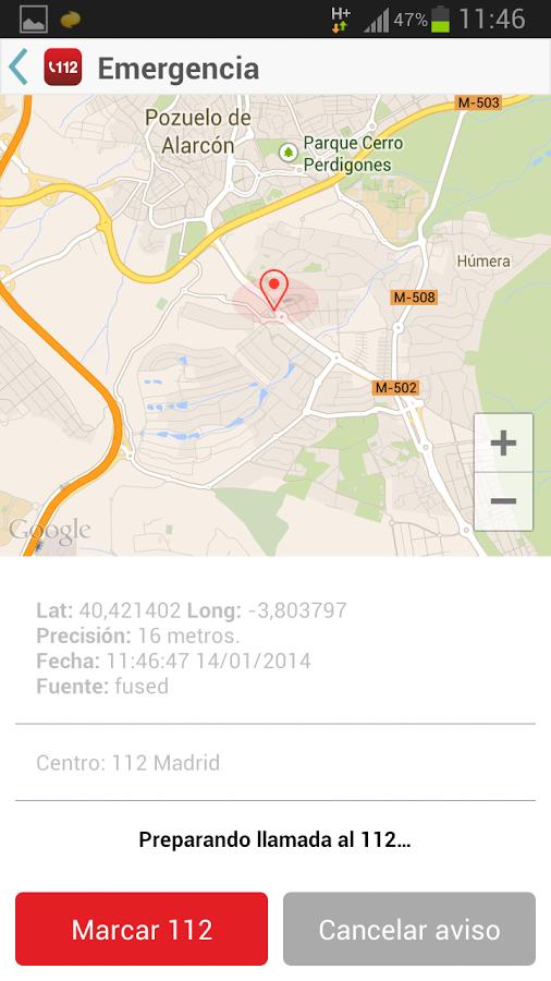 My112 - Geolocalización y llamada