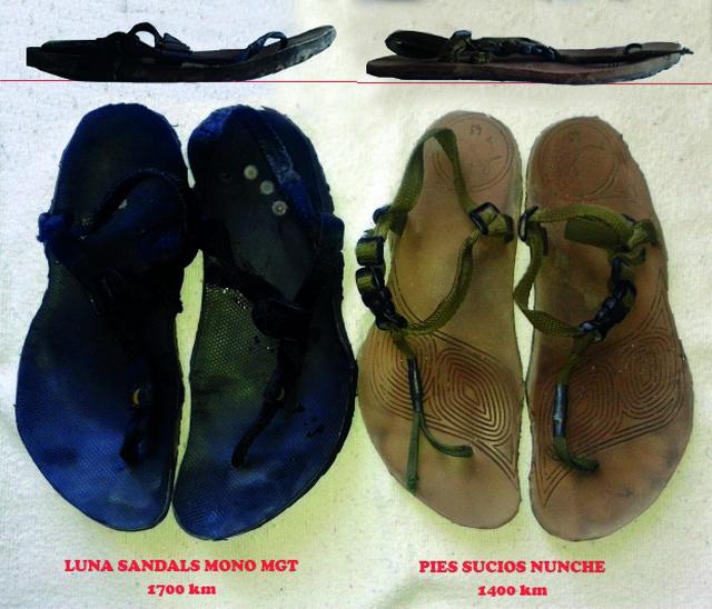 Luna Sandals Mono y Pies Sucios Nunche: análisis de resistencia